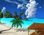 Tropical beach by priteeboy