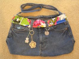 Recycled Jeans Purse by oblivion-of-sanity