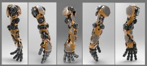 Hard Surface Mech Arm by llazyad