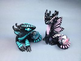 Polymer Clay Butterfly Dragons by ShaidySkyDesign