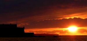 sunset on saint malo by Scapes-club