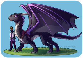 How To Train Your Ender Dragon II by Cerebrobullet-art