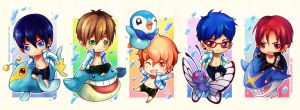 Free! x Pokemon by circus-usagi