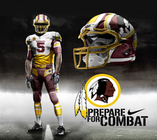 Washington Redskins Away by DrunkenMoonkey