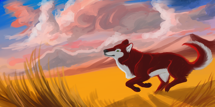 Red Wolf by kinglao16