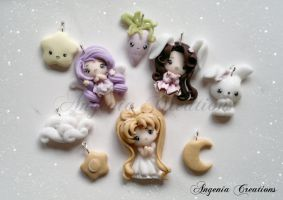 Serenity Joy And Bunny Girl charms by AngeniaC