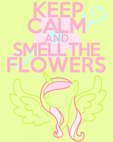 Keep Calm and Smell the Flowers (Request) by thegoldfox21