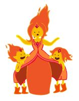 Flame Princess and the Flame Princes by KickMePlease