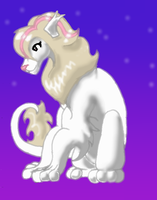 Pink'n'White Lioness by neonchrysocyon