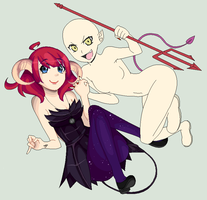 : Open devil-collab : by Nimmiii-tan