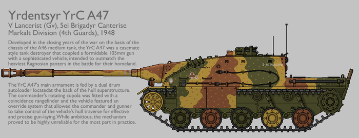 YrC A47 Tank Destroyer [Graphic|Coloured] by SixthCircle