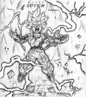 GOTEN SuperSaiyan level 2 by andyprophet