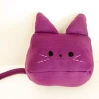 Purple Cubed Kitty Plushie by StrawberryGlitter-14