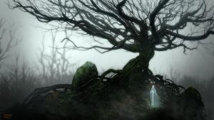 Twisted Tree with Guardian by Balaskas