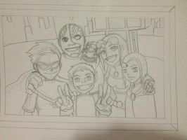 Teen Titans Picture (sketch) by Y-clept