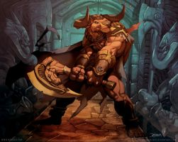 Minotaur Guardian by el-grimlock
