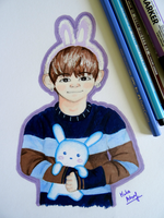 Bunny Taetae with Mr Bunny~ Request by xxPandaGirl16xx