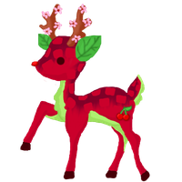 Cherry deer adoptable OPEN -20 points- by DinowAdopts