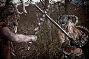 Skyrim Barbie and Briar Heart by AndrewDobell
