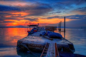 Sunrise of Dove Jetty, Penang - The dock by fighteden