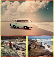 Beach Triptych 3 by Lindalees