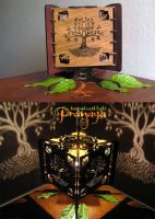 Small Decorative Tree of Life Shadow Lamp by pranayadesign