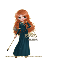 Brave: Merida -Fanart- by AllieBermudez