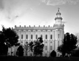 St. George LDS Mormon Temple B by houstonryan