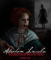 Abraham Lincoln Vampire Hunter drawing by Miki-