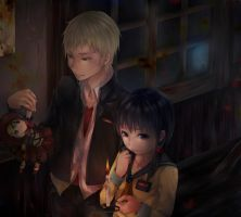 Corpse Party Kishinuma Yoshiki and Shinozaki Ayumi by Spriwel