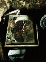 Old Television  In an Underground Railroad by SeeThruMineEyes