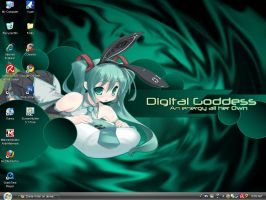 My Desktop Miku by Zinnia-Aster