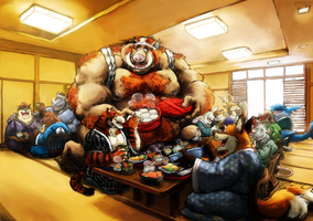 A Great Big Banquet by aokamidu