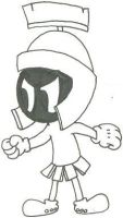 Marvin the Martian in Uni-Ball by nintendomaximus