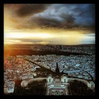 Sunset in Paris by Interna