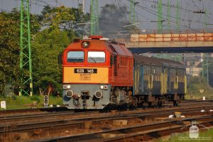 628 145 with a short passenger train in Gyor by morpheus880223
