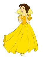 Belle as Snow White in Yellow by DisneyWiz