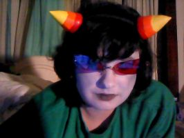 Terezi first try make-up by okamixcosplayer