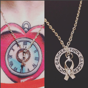 F Cancer Pendant  Go Fund Me Proceeds by Chudames