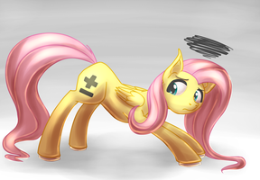 Fluttershy Plus-Minus by CountAile