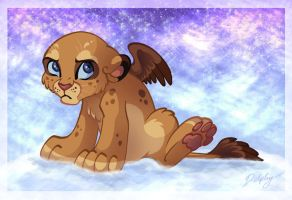 Winged Lion Cubby by DolphyDolphiana