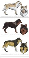 Wolf Adoptable Designs4 by NatsumeWolf