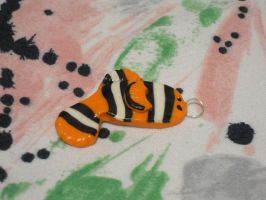 Fimo clown fish by REDDISH-MUSE