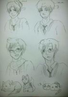 2P Italy and 2P Romano sketches by MattnMello