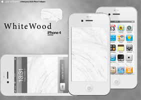 White Wood on iPhone 4 by stephenCN