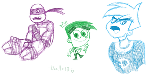 Nicktoon Sketches by Doodlz18