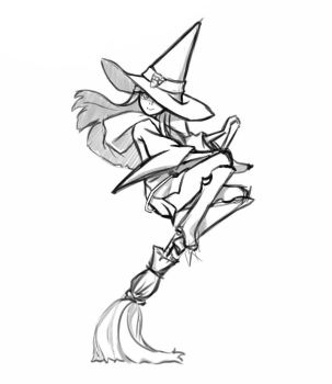 Little Witch Academia poster sketch by Chiisanaji