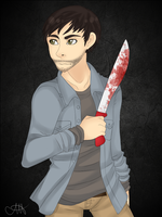 .: A Machete With A Red Handle :. by ZombiMandi
