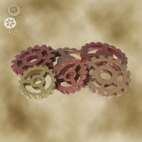Steampunk custom Gears by Utinni