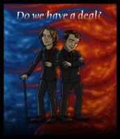 Damn This Deliciously Devilish Deal-Making Duo by blackbirdrose